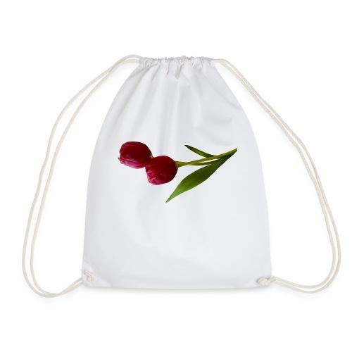 rote Tulpen - Turnbeutel