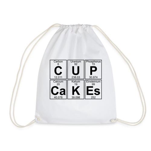 C-U-P-Ca-K-Es (cupcakes) - Full - Drawstring Bag