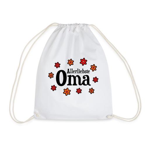 Allerliebste Oma Blumen Geschenk - Turnbeutel