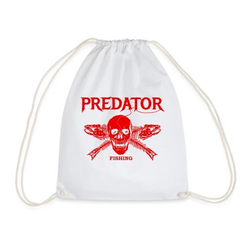 Predator fishing red - Turnbeutel