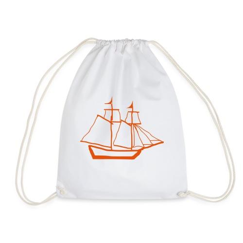 red baron ship - Drawstring Bag