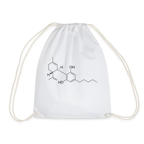 Cannabidiol Chemical Structure - Drawstring Bag
