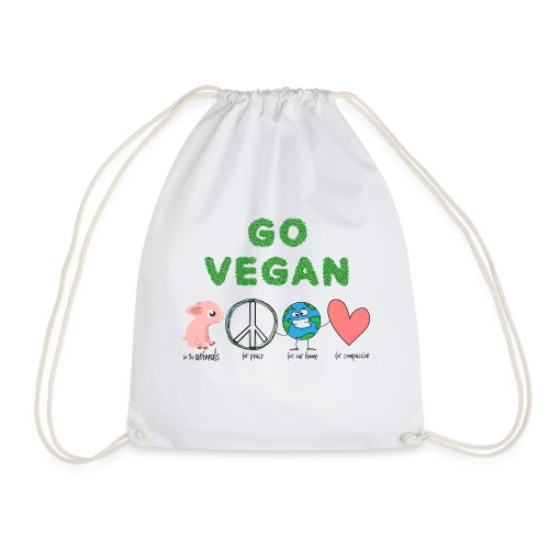 go vegan - Sportstaske