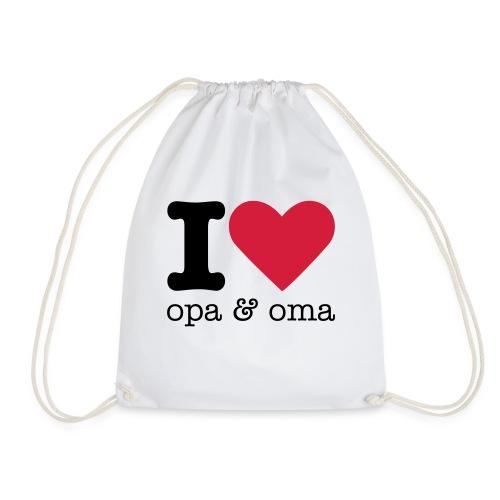 I Love Opa & Oma - Gymtas