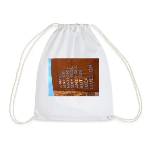 An Idea Lives On - Drawstring Bag