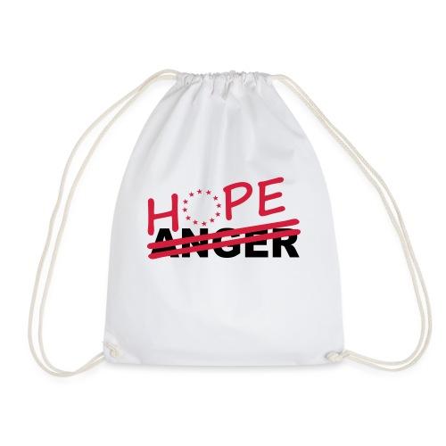 Hope over anger - Drawstring Bag