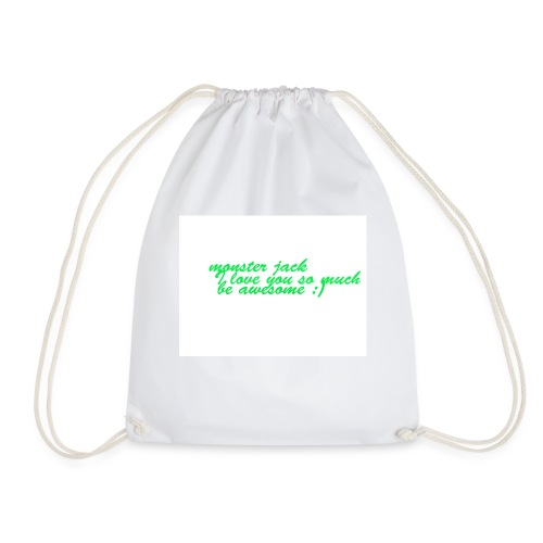 monster jack logo - Drawstring Bag