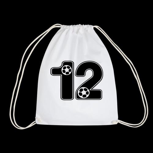foot numero 12 - Drawstring Bag