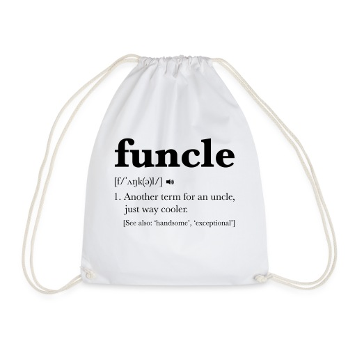 Funcle Dictionary Definition - Drawstring Bag