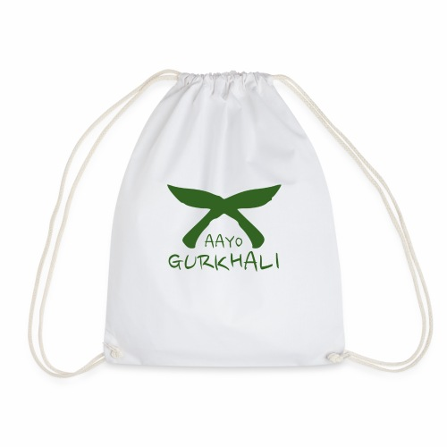 Aayo Gurkhali - Khukuri cross - Drawstring Bag