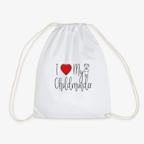 I Love My Childminder - Drawstring Bag