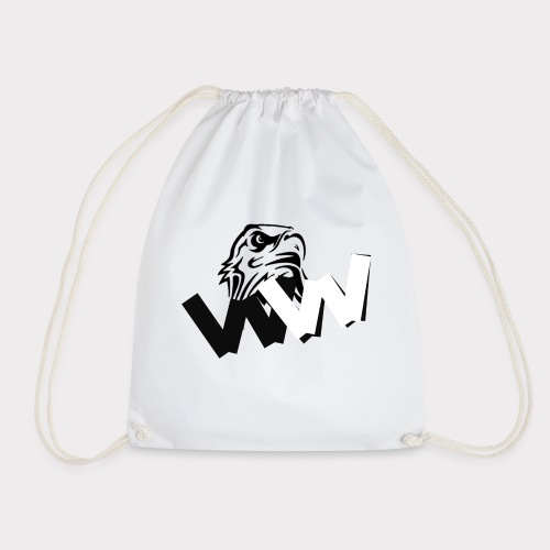 White and Black W with eagle - Drawstring Bag