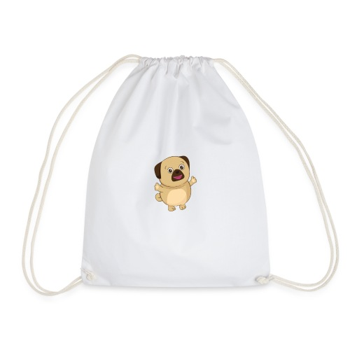 Puggy the Pug Dog - Drawstring Bag