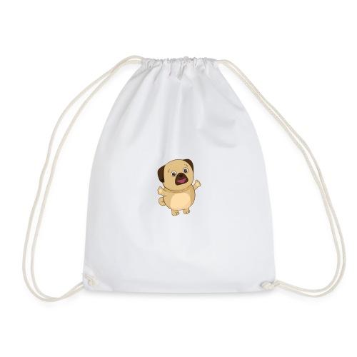Puggy the Pug Dog - Drawstring Bag