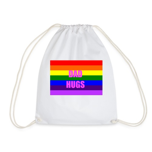 Pride Dad Hugs T-Shirt - Drawstring Bag