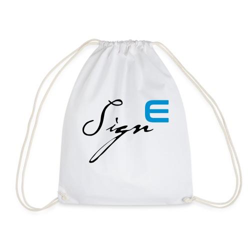 Sign E - Blue - Turnbeutel