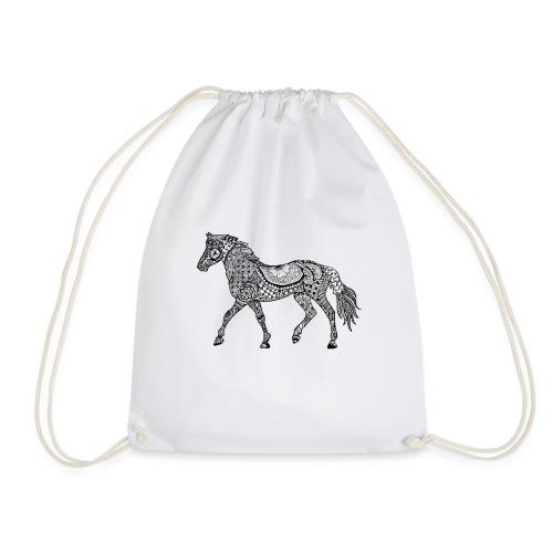 Pferd, gemustert - Turnbeutel