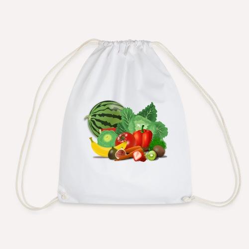 Fruits and vegetables lover - Drawstring Bag