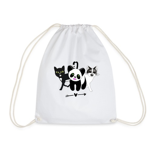 Tipsy, Tapsy and Happy Panda - Drawstring Bag