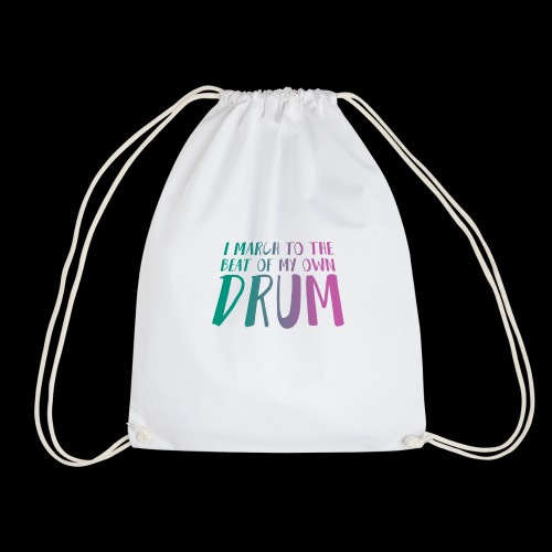 Green Pink drum beat - Drawstring Bag