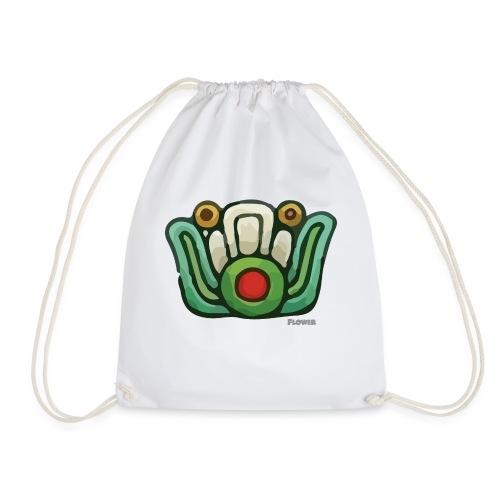 Aztec Flower Color - Drawstring Bag