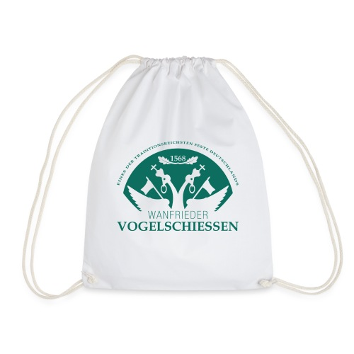 Logo Wanfrieder Vogelschiessen Einfarbig - Turnbeutel