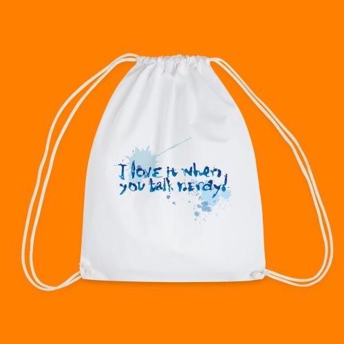 talk nerdy - Drawstring Bag