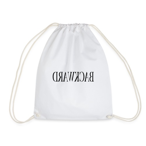Backward black - Drawstring Bag
