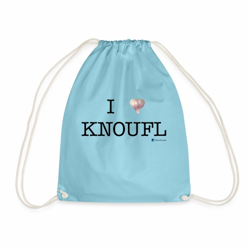 i love knoufl black - Turnbeutel