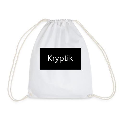 Logo Kryptik Schwarz - Turnbeutel