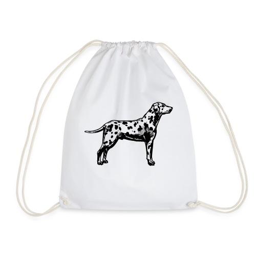 dalmatian dog - Drawstring Bag