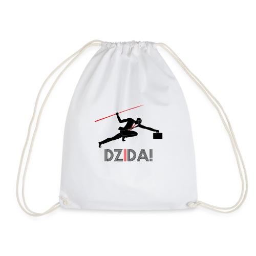 Dzida_wzor_czarny - Worek gimnastyczny