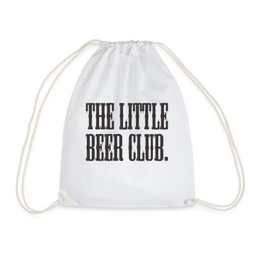 The Little Beer Club. Grey T Shirt - Drawstring Bag
