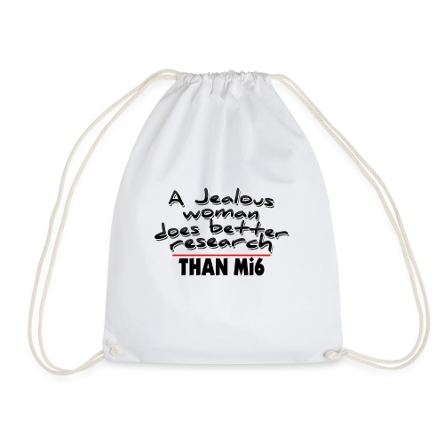 a jealous woman - Drawstring Bag