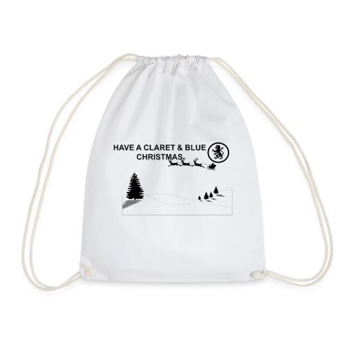 Claret and Blue Xmas - Drawstring Bag