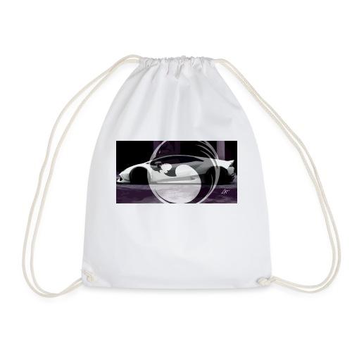 lion black lyon design - Drawstring Bag