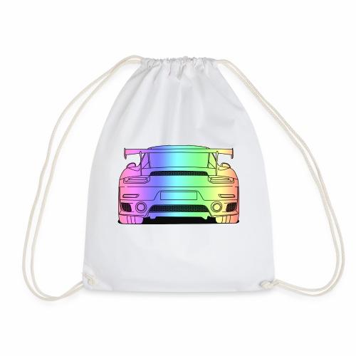 cool car rear colourful - Drawstring Bag