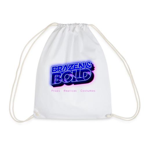 Brazen & Bold Productions Neon Logo - Drawstring Bag