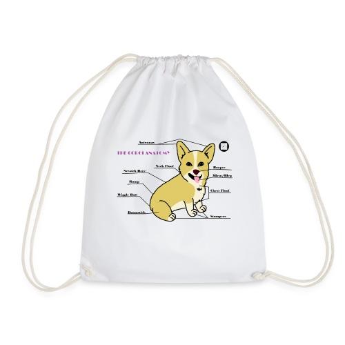 The Corgi Anatomy - Drawstring Bag