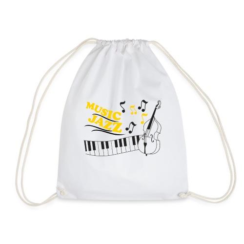 music jazz con piano e contrabbasso - Sacca sportiva
