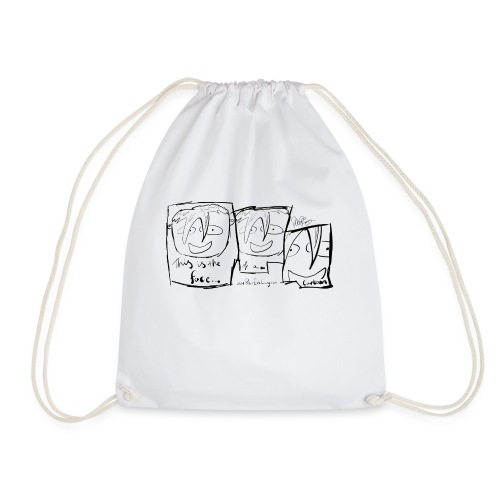 This Is The Face Comic | Peter Eric Lang - Drawstring Bag