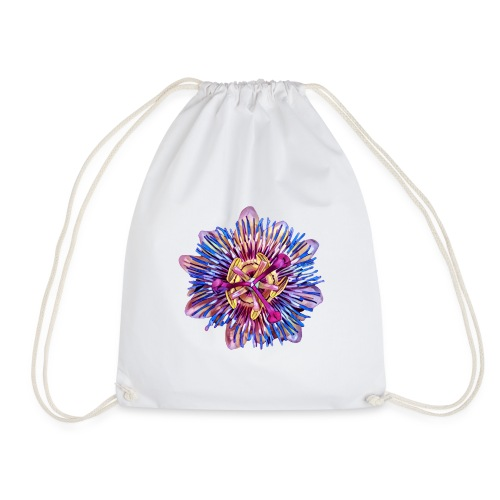 Exotic Passion Flower - Drawstring Bag