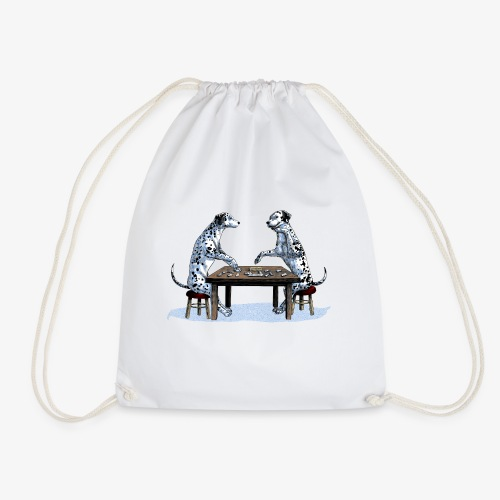Dalmatians domino - Drawstring Bag