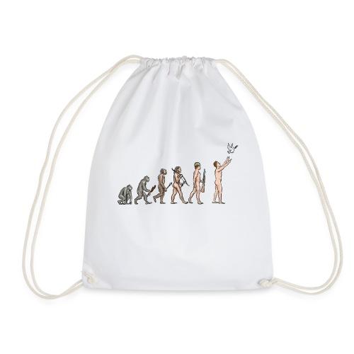 Evolution of Peace - Drawstring Bag