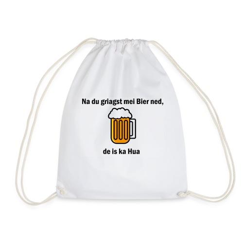 Na du griagst mei Bier ned - Turnbeutel