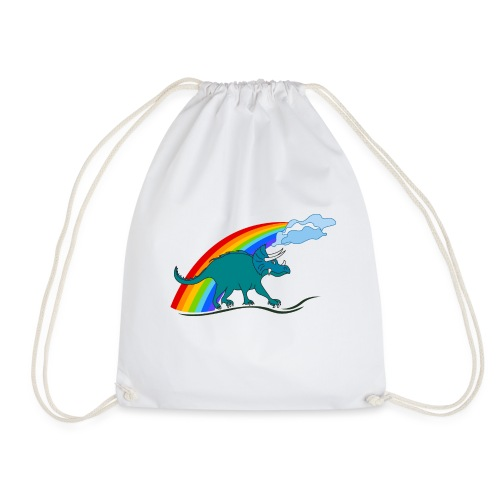 prehistoric dinosaur - Drawstring Bag