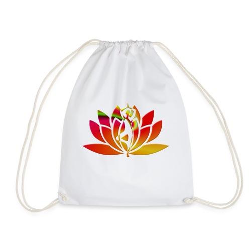 Motif lotus yoga - Sac de sport léger