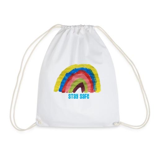 Stay Safe Rainbow Tshirt - Drawstring Bag