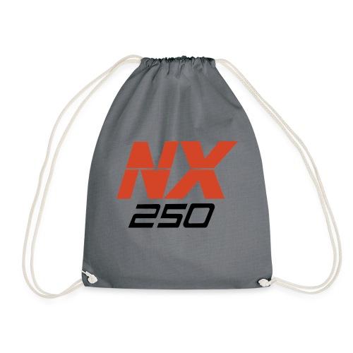 nx250 logo transparant - Gymtas