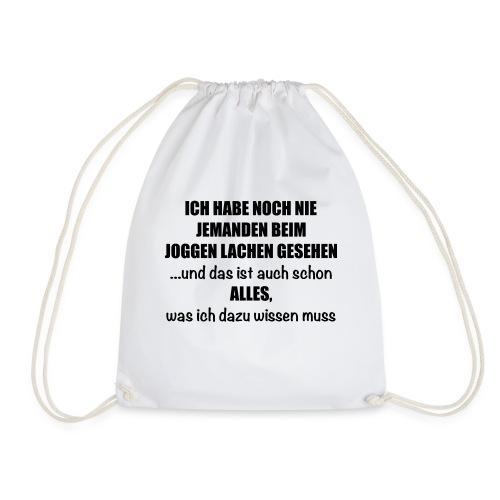 Anti-Joggen Spruch - Turnbeutel